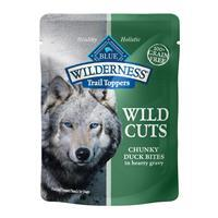 Blue Buffalo Blue Wilderness Wild Cuts Trail Toppers Chunky Duck Bites in Hearty Gravy 3 oz I016938