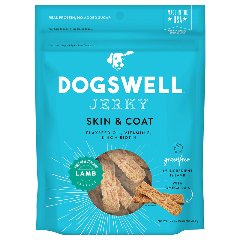Dogswell Skin & Coat Lamb Jerky Dog Treats 10 oz I016970