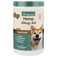 NaturVet Hemp Allergy Aid Soft Dog Chew  I016976b