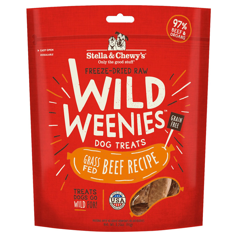 Stella & Chewy's Wild Weenies Beef Dog Treats 3.25oz I017035