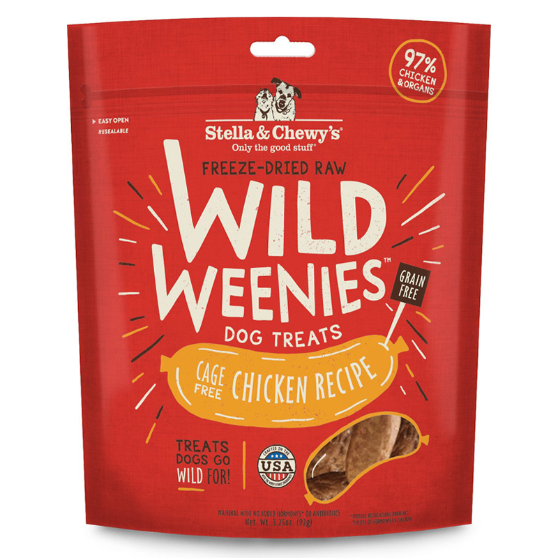 Stella & Chewy's Wild Weenies Cage-Free Chicken Recipe Dog Treats 3.25 oz  I017036
