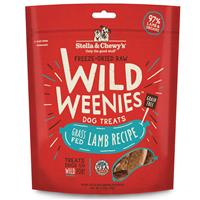 Stella & Chewy's Freeze Dried Raw Wild Weenies Red Meat Recipe with Beef, Goat & Lamb Dog Treats 3.25 oz  I017038