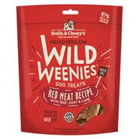 Stella & Chewy's Freeze Dried Raw Wild Weenies Red Meat Recipe with Beef, Goat & Lamb Dog Treats 3.25 oz I017039