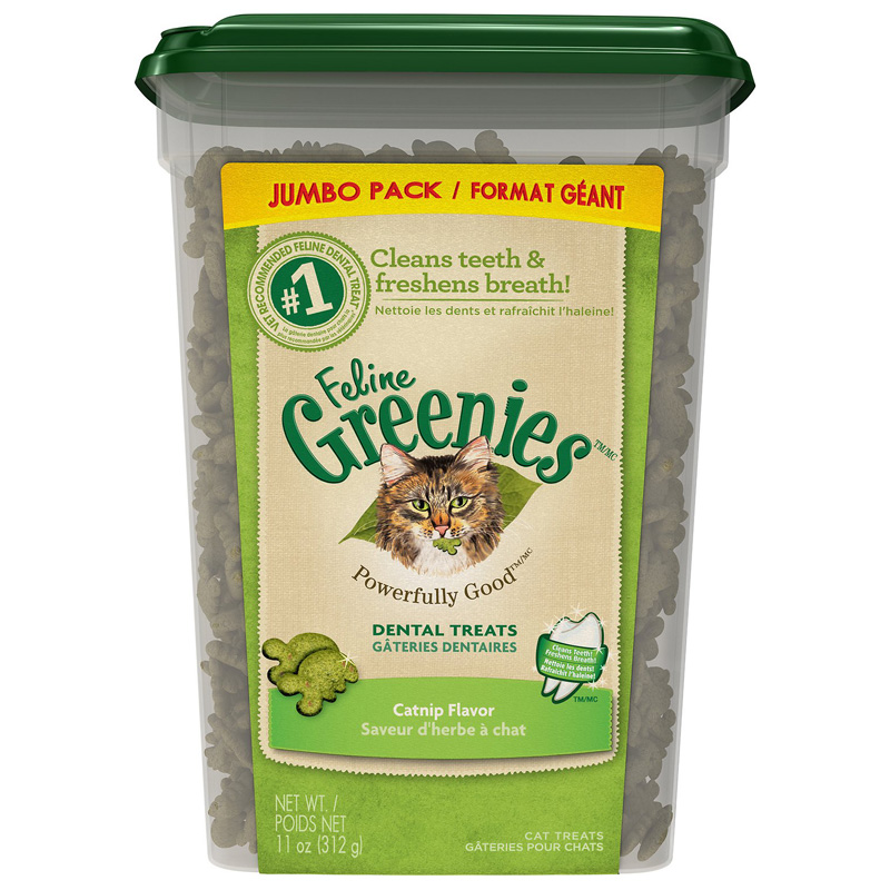 Feline Greenies Dental Treats Catnip Jumbo Pack 11 oz I017056