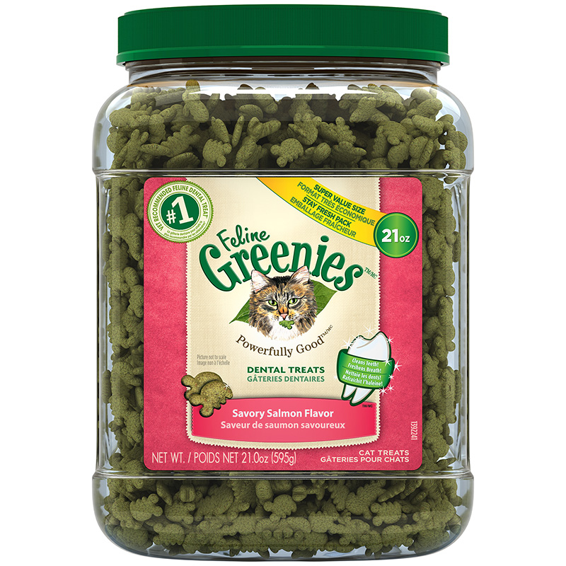 Feline Greenies Dental Treats Savory Salmon 21 oz I017060