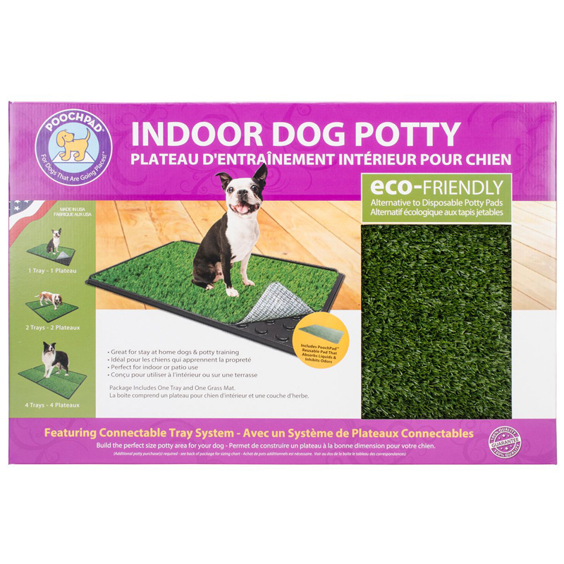 "PoochPad Indoor Turf Dog Potty PLUS Connectable 16"" x 24"" I017085"