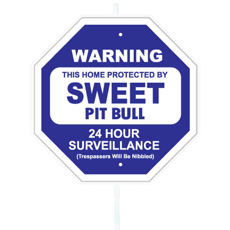 Warning Sweet Pit Bull Garden Sign I017120