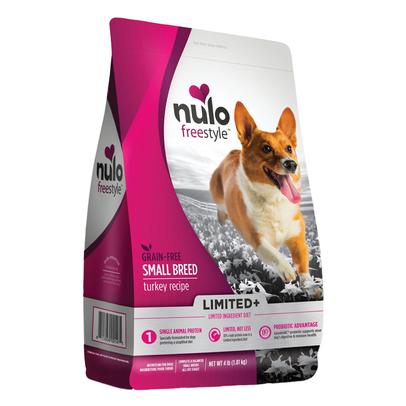 Nulo Freestyle Grain Free Small Breed Limited+ Turkey Recipe Dog Food 4 lb  I017147