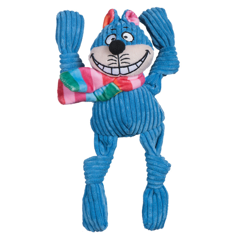 HuggleHounds Rainbow Cheshire Cat Knottie  I017153b