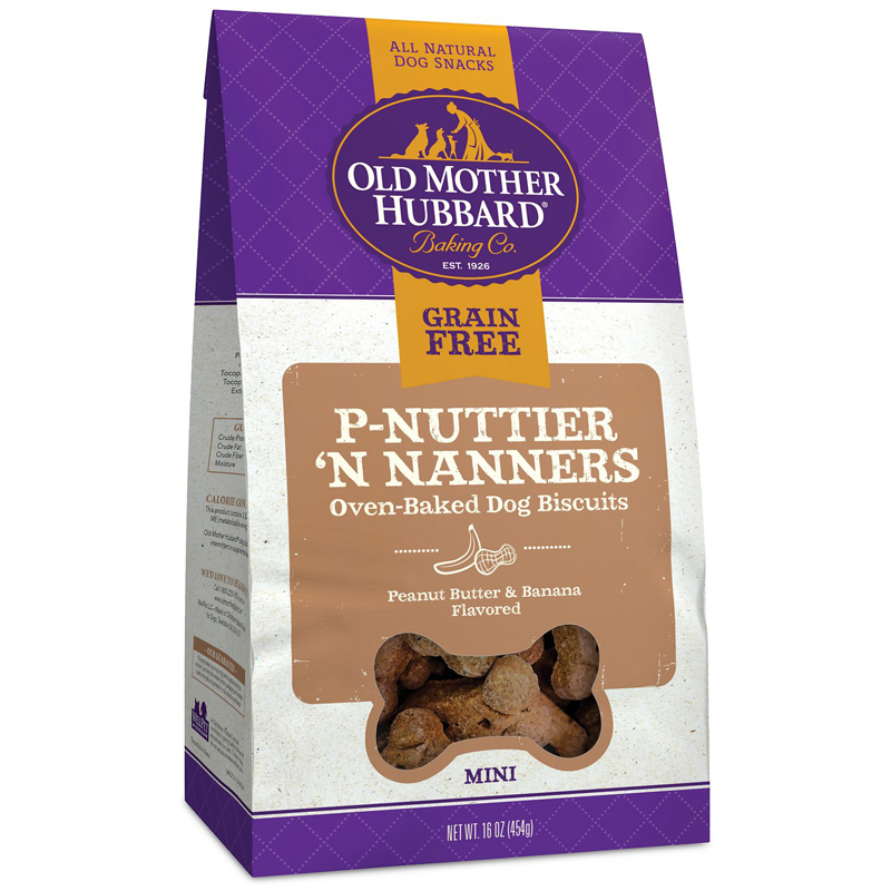 Old Mother Hubbard P-Nutter 'N Nanners Grain Free Dog Biscuits 16 oz  I017164