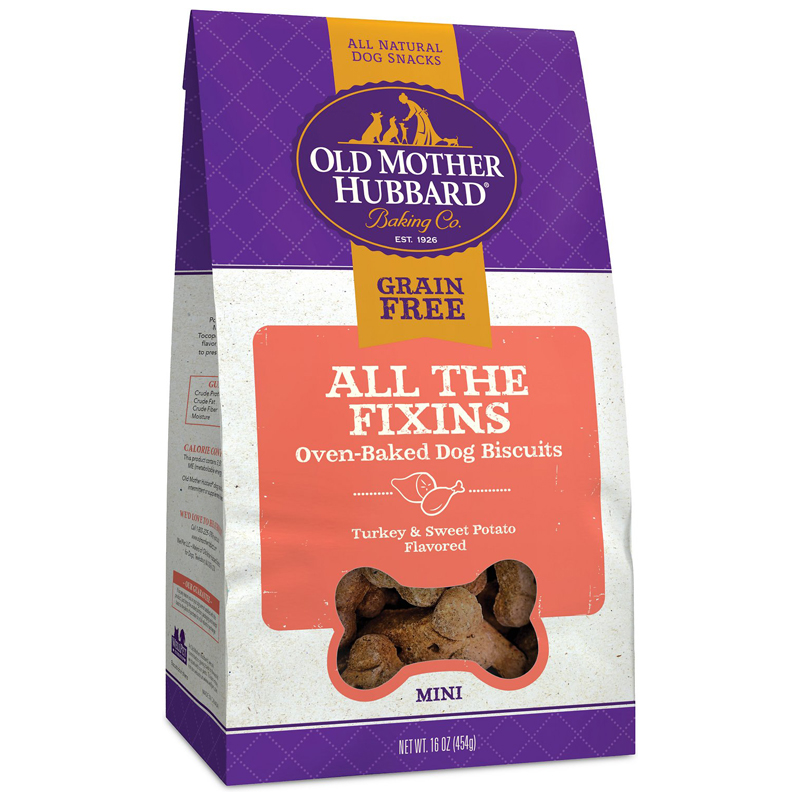 Old Mother Hubbard All The Fixins Grain Free Dog Biscuits 16 oz  I017169