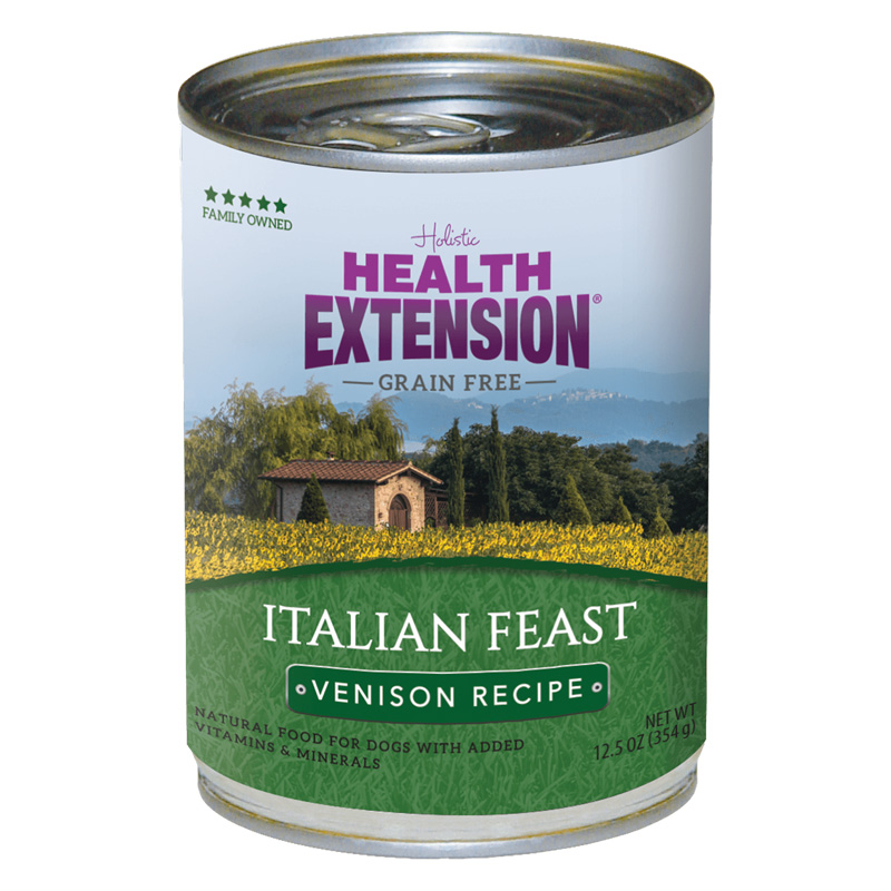 Holistic Health Extension Grain Free Italian Feast Venison Recipe Dog Food 12.5 oz  I017237