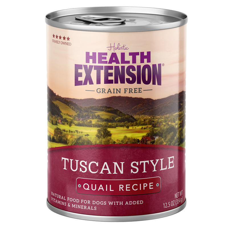 Holistic Health Extension Grain Free Tuscany Style Quail Recipe Dog Food 12.5 oz I017238