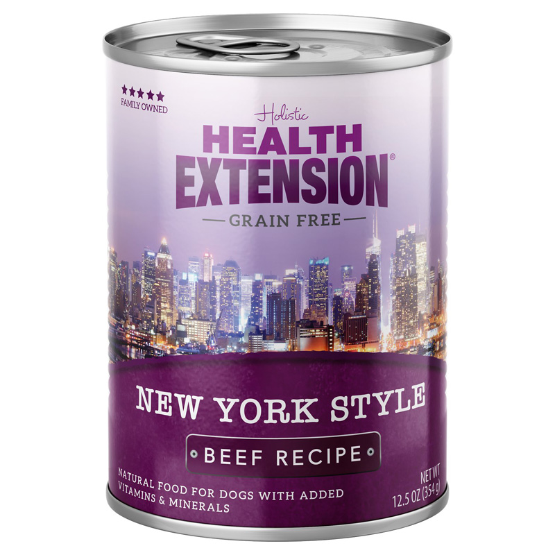 Holistic Health Extension Grain Free New York Style Beef Recipe Dog Food 12.5 oz I017239