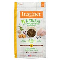 Instinct Be Natural Real Chicken & Brown Rice Recipe Dog Food I017278b
