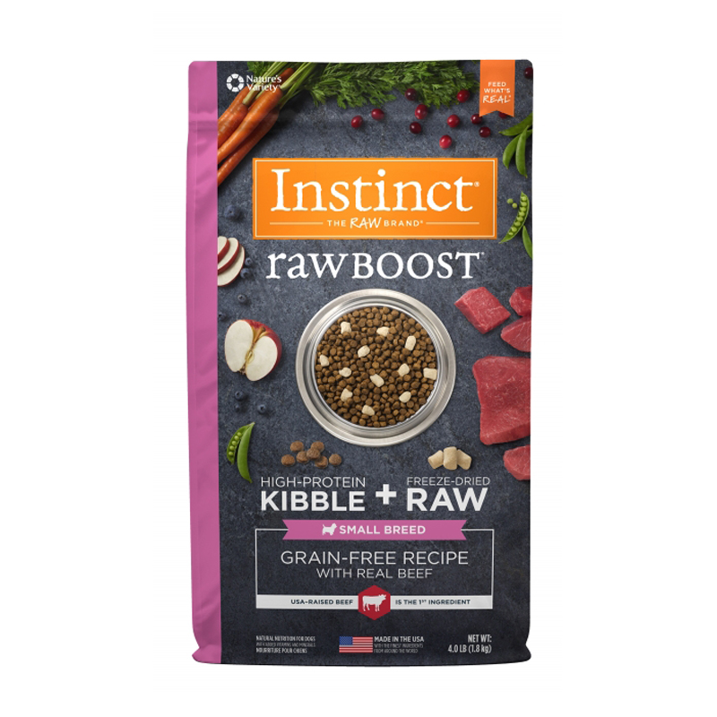 Instinct Raw Boost Grain-Free Recipe with Real Beef Small Breed  I017283b