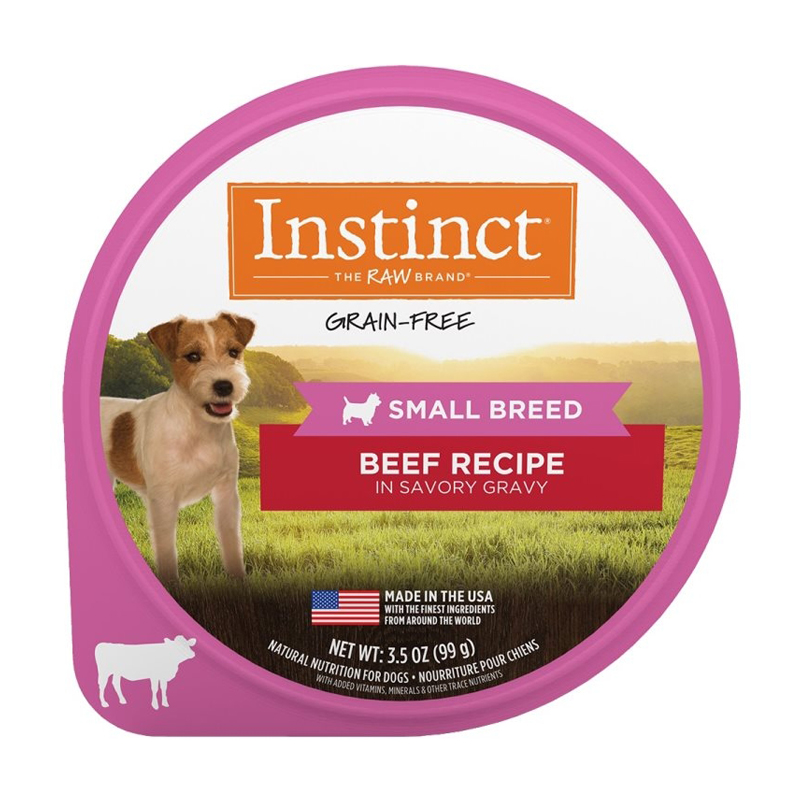 Nature's Variety Instinct Beef Recipe in Savory Gravy for Small Breeds 3.5 oz I017287