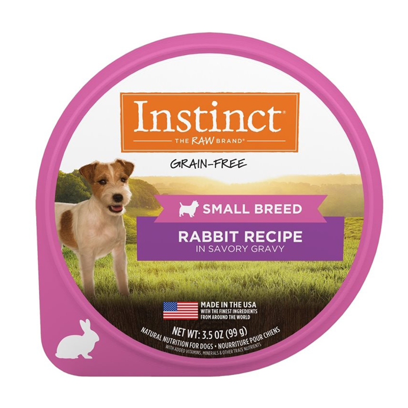 Nature's Variety Instinct Rabbit in Savory Gravy for Small Breeds 3.5 oz I017288