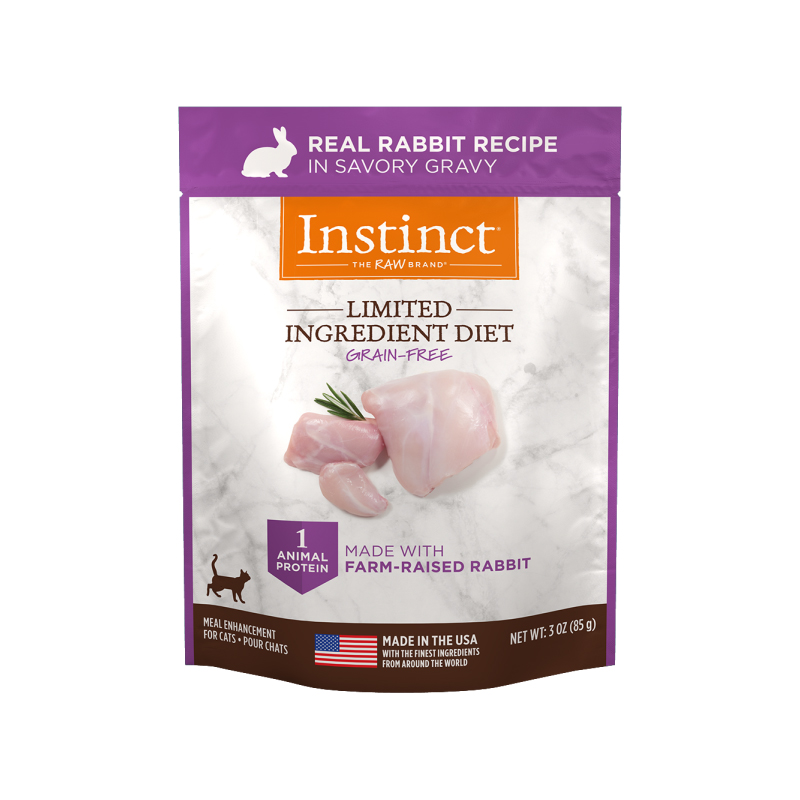 Nature's Variety Instinct Limited Ingredient Diet Real Rabbit in Savory Gravy for Cats 3 oz I017290