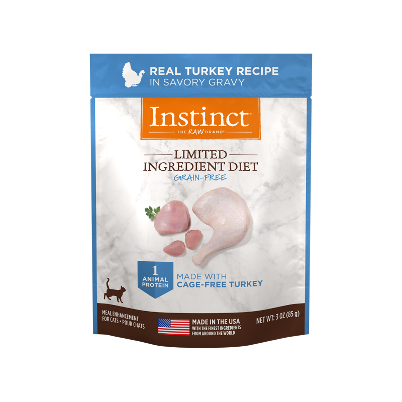Nature's Variety Instinct Limited Ingredient Diet Grain-Free Real Turkey Recipe in Savory Gravy for Cats 3 oz I017291