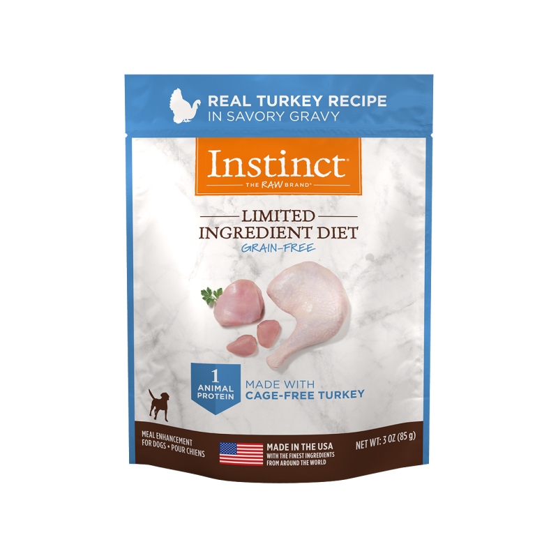 Nature's Variety Instinct Limited Ingredient Diet Real Turkey Recipe Dog Food 3 oz I017293
