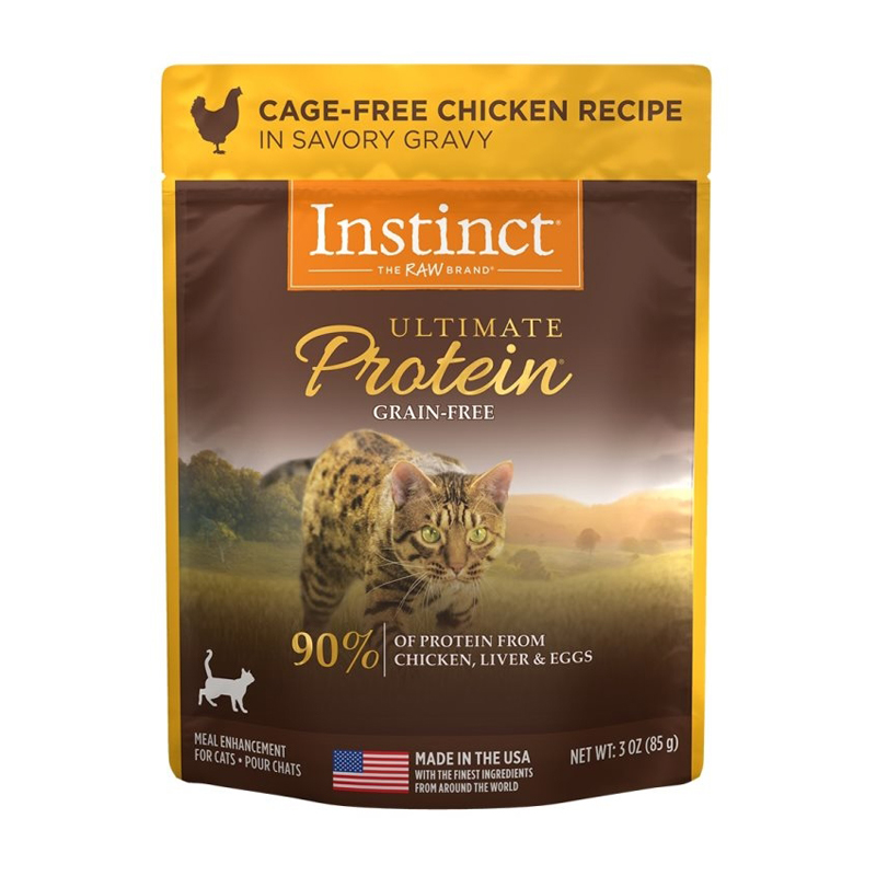 Nature's Variety Instinct Ultimate Protein Pouch Cage-Free Chicken Recipe for Cats 3 oz I017294
