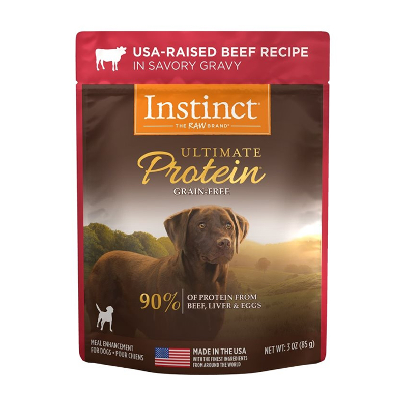 Nature's Variety Instinct Ultimate Protein USA-Raised Beef Recipe For Dogs 3 oz I017297