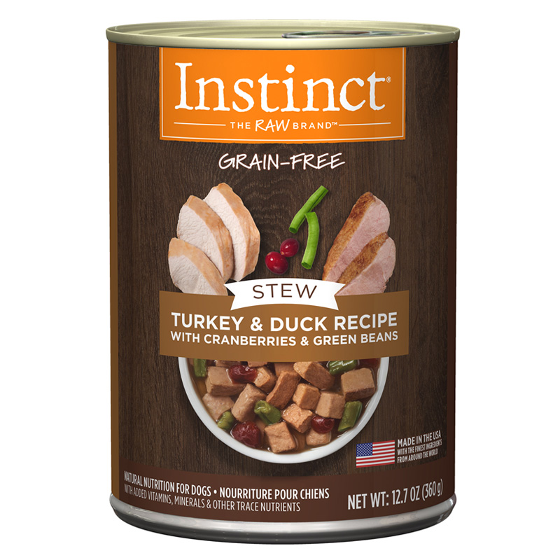12.7oz NV Instinct Stews Tk&Dk Turkey & Duck Dog I017309