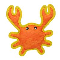 DuraForce Crab Orange-Yellow Dog Toy  I017319