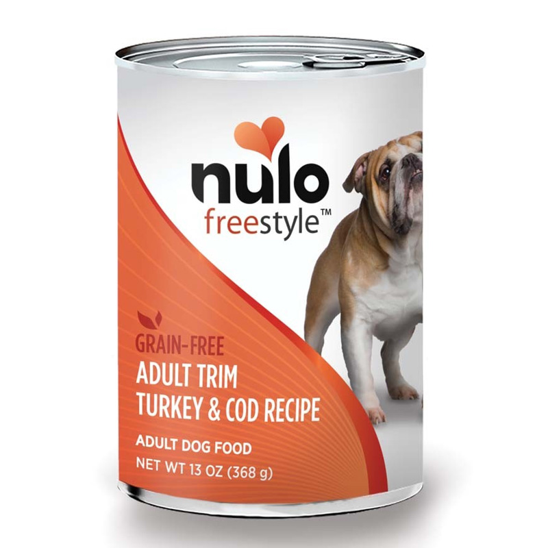 Nulo Freestyle Grain Free Adult Trim Turkey & Cod Recipe Dog Food 13 oz I017334