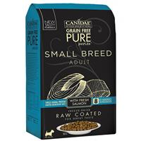 CANIDAE Grain Free PURE Petite Small Breed Raw Coated Dry Formula with Real Salmon I017360