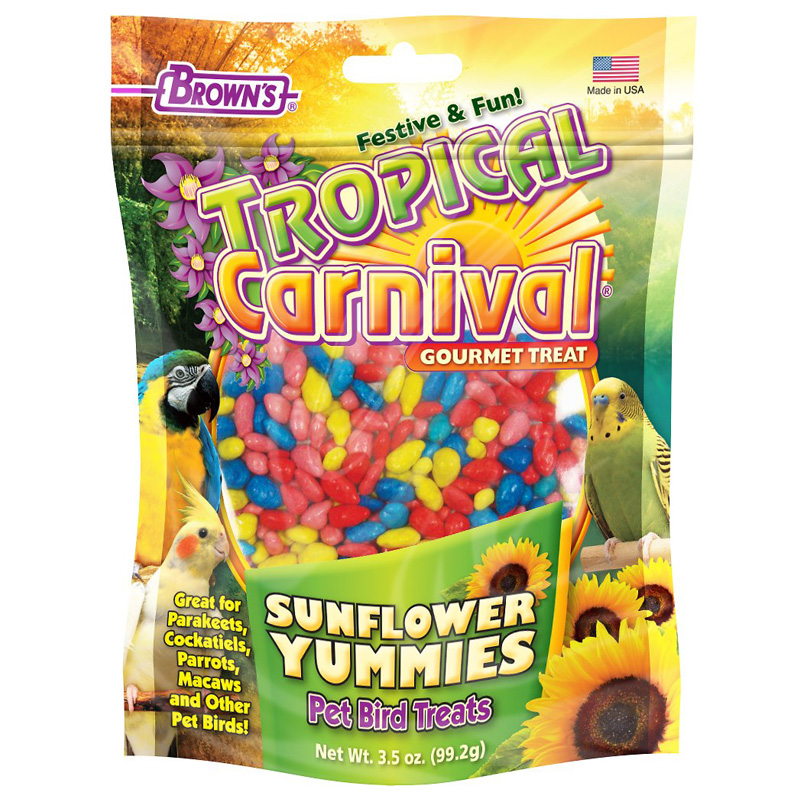 F.M. Brown's Tropical Carnival Sunflower Yummies Bird Treats 3.5 oz I017495
