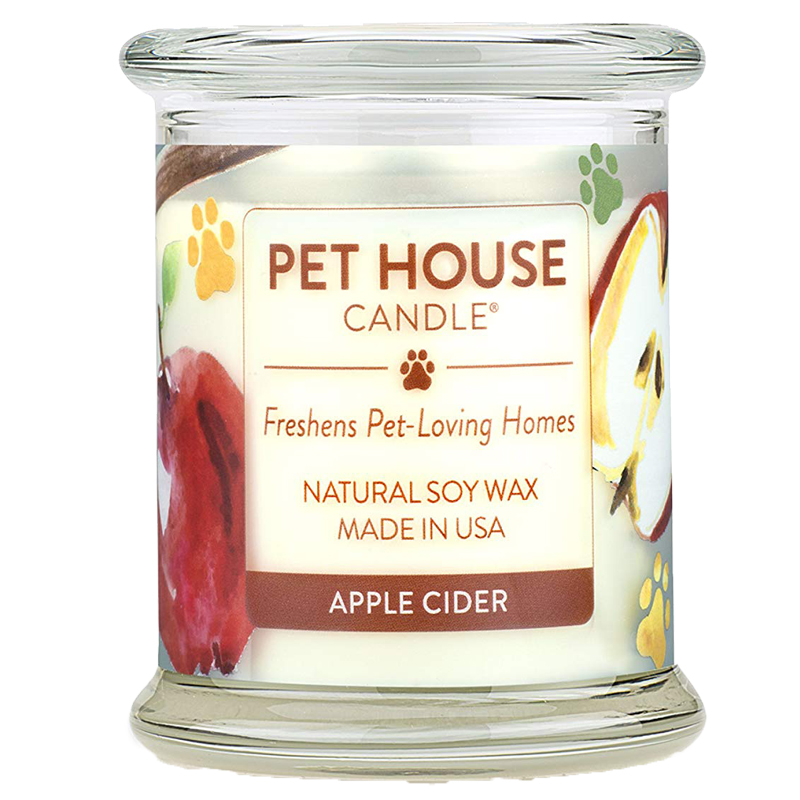 One Fur All Pet House Apple Cider Candle 8.5 oz  I017497