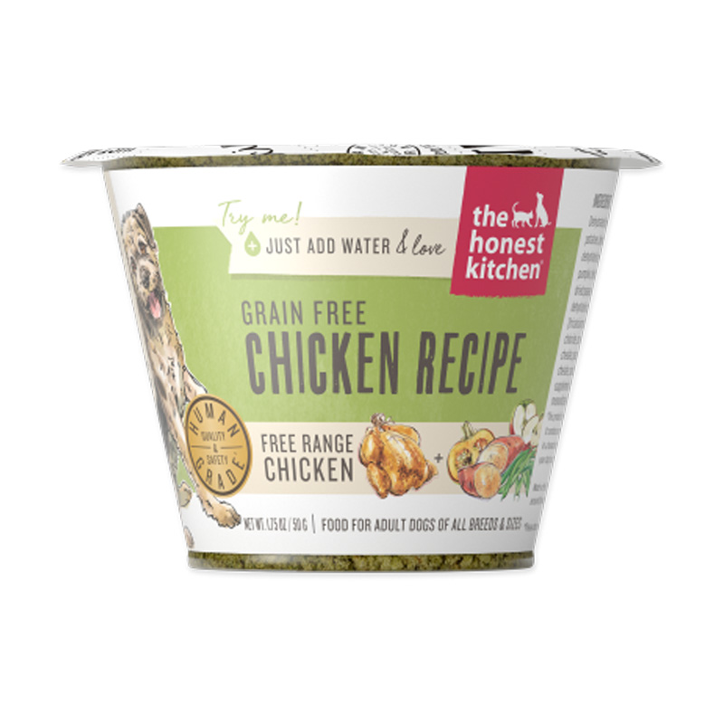 The Honest Kitchen Grain Free Chicken Recipe Dehydrated Dog Food 1.75 oz I017507