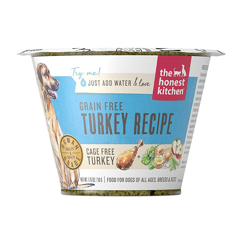 The Honest Kitchen Grain Free Turkey Recipe Single Serve Cup 1.75 oz  I017510