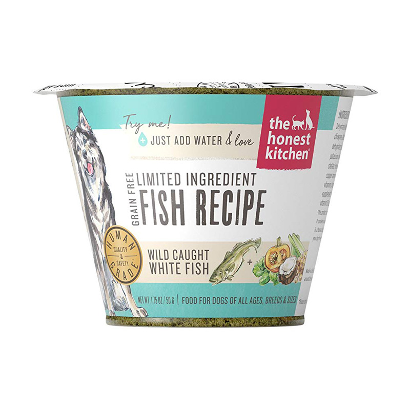The Honest Kitchen Grain Free Limited Ingredient Fish Recipe Single Serve Cup Dog Food 1.75 oz  I017511