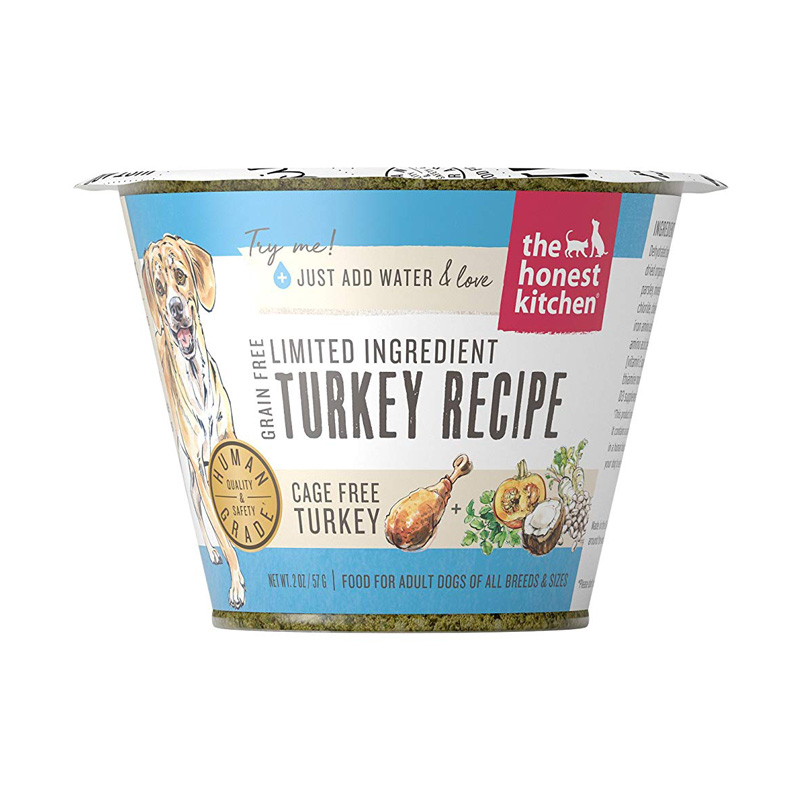 The Honest Kitchen Grain Free Limited Ingredient Turkey Recipe Single Serve Cup Dog Food 1.75 oz  I017512