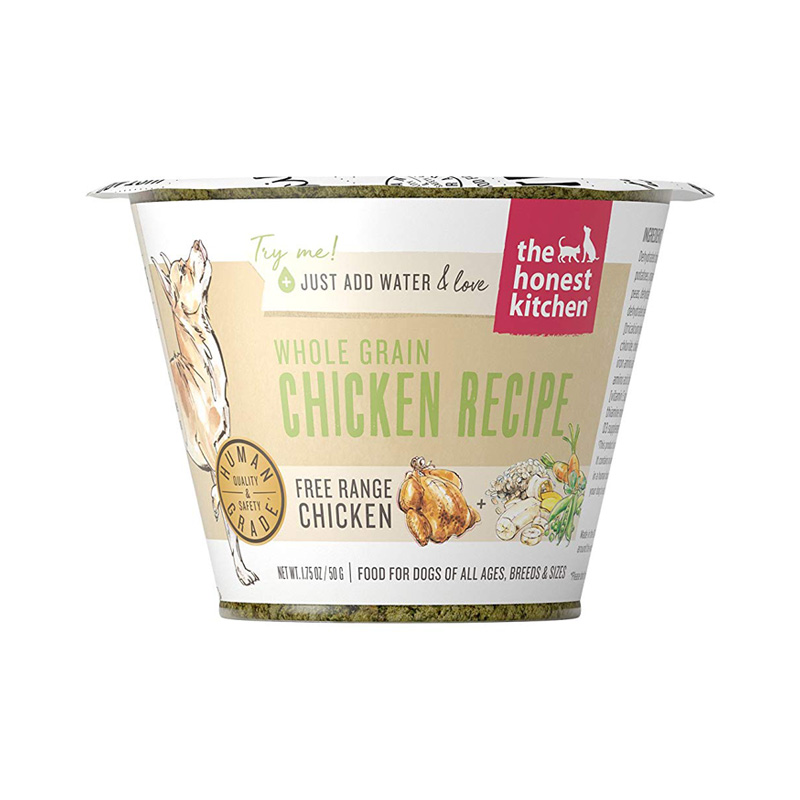 The Honest Kitchen Whole Grain Chicken Recipe Single Serve Cup Dehydrated Dog Food 1.75 oz  I017513