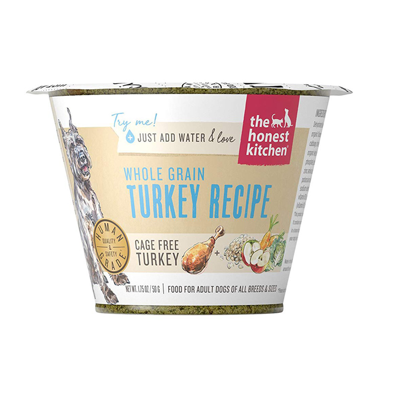 The Honest Kitchen Whole Grain Chicken Recipe Single Serve Cup Dehydrated Dog Food 1.75 oz  I017515