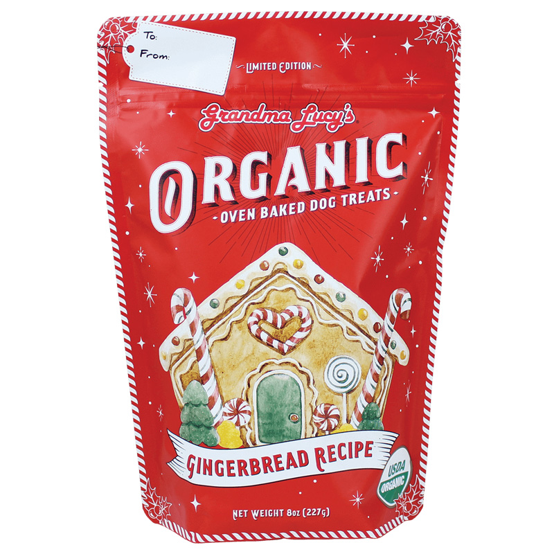 Grandma Lucy's Organic Oven-Baked Gingerbread Recipe Dog Treats 8 oz I017540