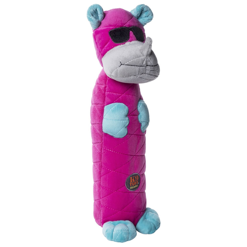 Charming Pets Bottle Bros Rhino Dog Toy  I017697