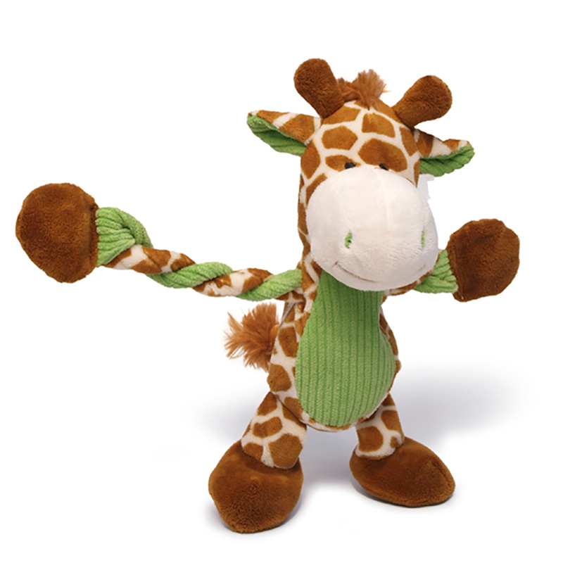 Charming Pet Jungle Pulleez Giraffe Dog Toy  I017701