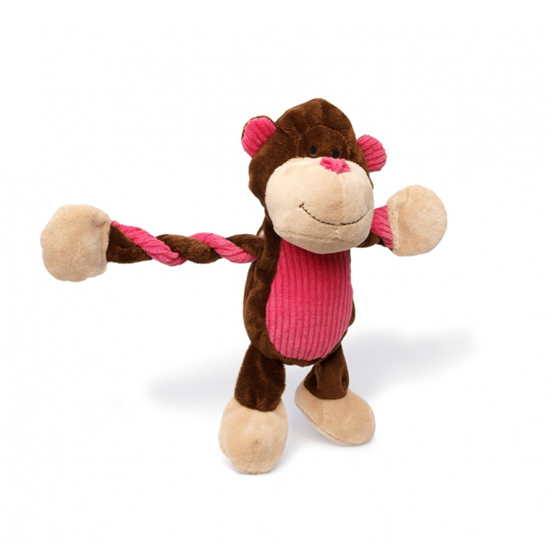 Charming Pet Jungle Pulleez Monkey Dog Toy  I017702