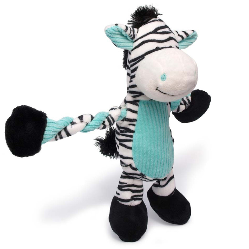 Charming Pet Pulleez Zebra Dog Toy  I017703
