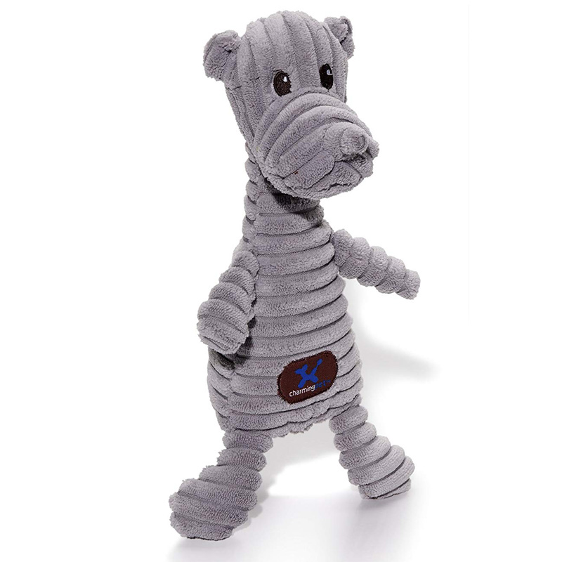 Charming Pet Squeakin' Squiggles Rhino Dog Toy I017706
