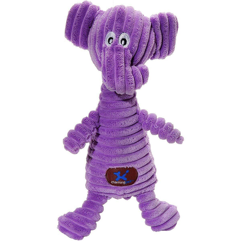 Charming Pet Squeakin' Squiggles Elephant Dog Toy  I017707