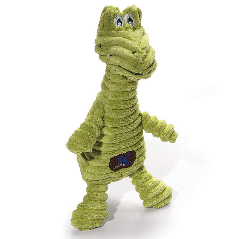 Charming Pet Sqeakin' Squiggles Gator Dog Toy  I017708
