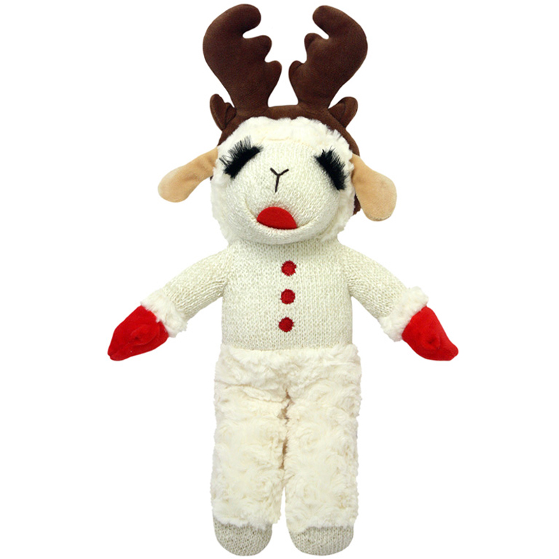 Multipet Holiday Standing Lambchop with Antlers I017784