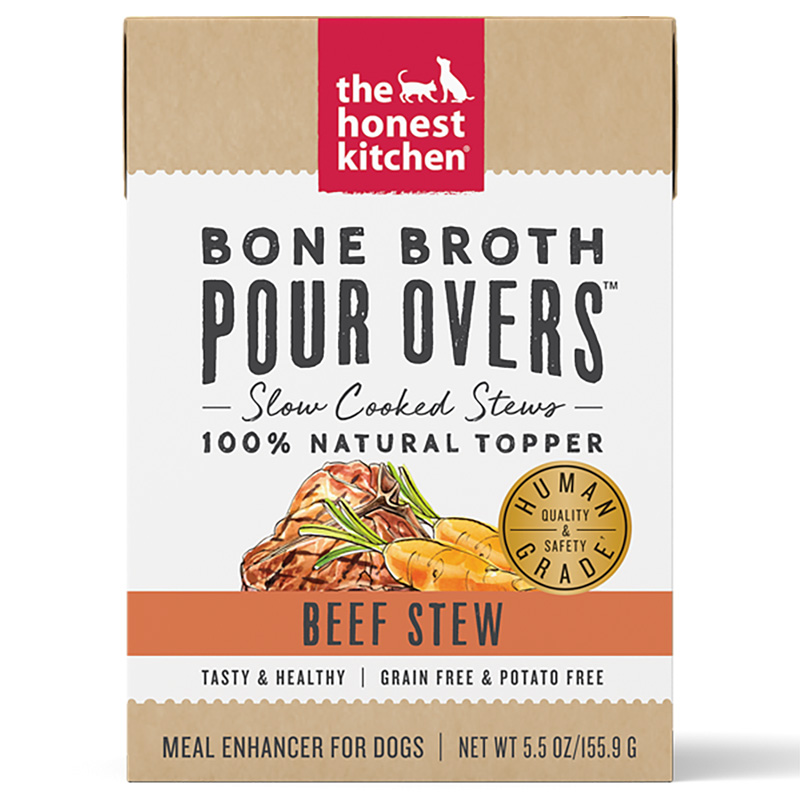 Honest Kitchen Bone Broth Pour Overs Beef Stew 5.5 oz. I017798