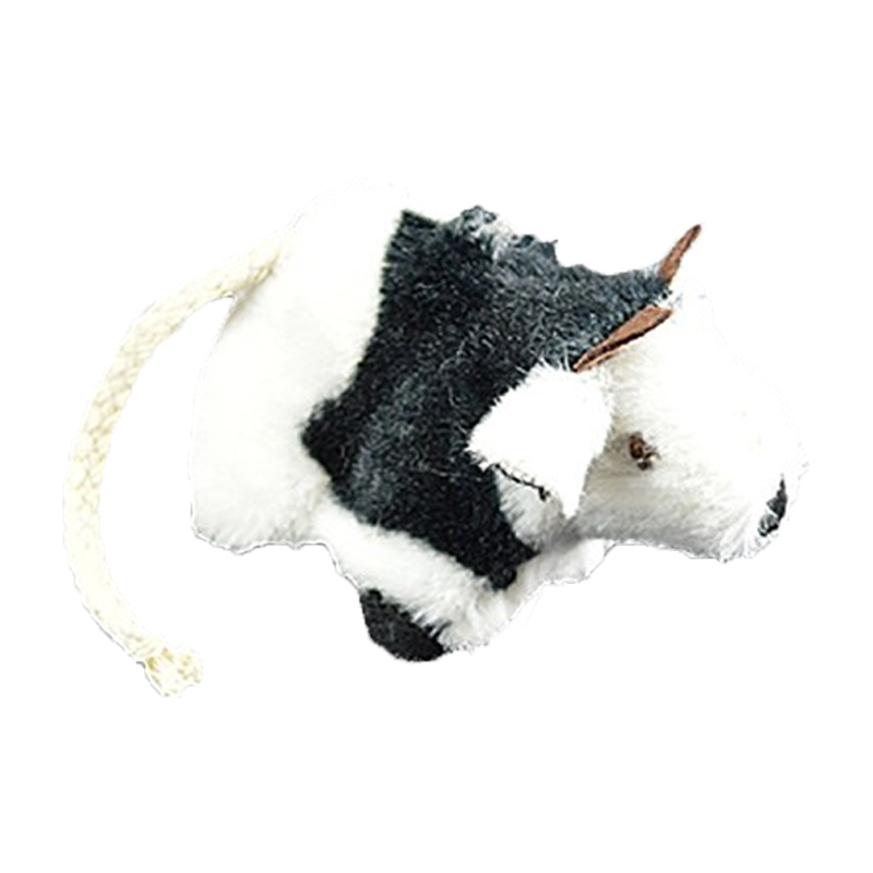 OurPets Play-N-Squeak Moody Cow Cat Toy  I017831